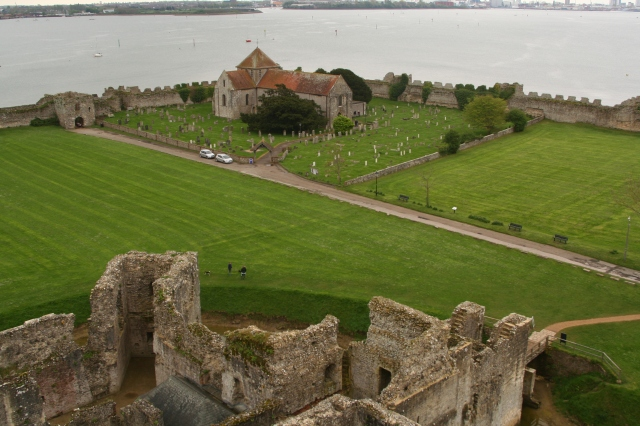 View from the top of Portchester castle
