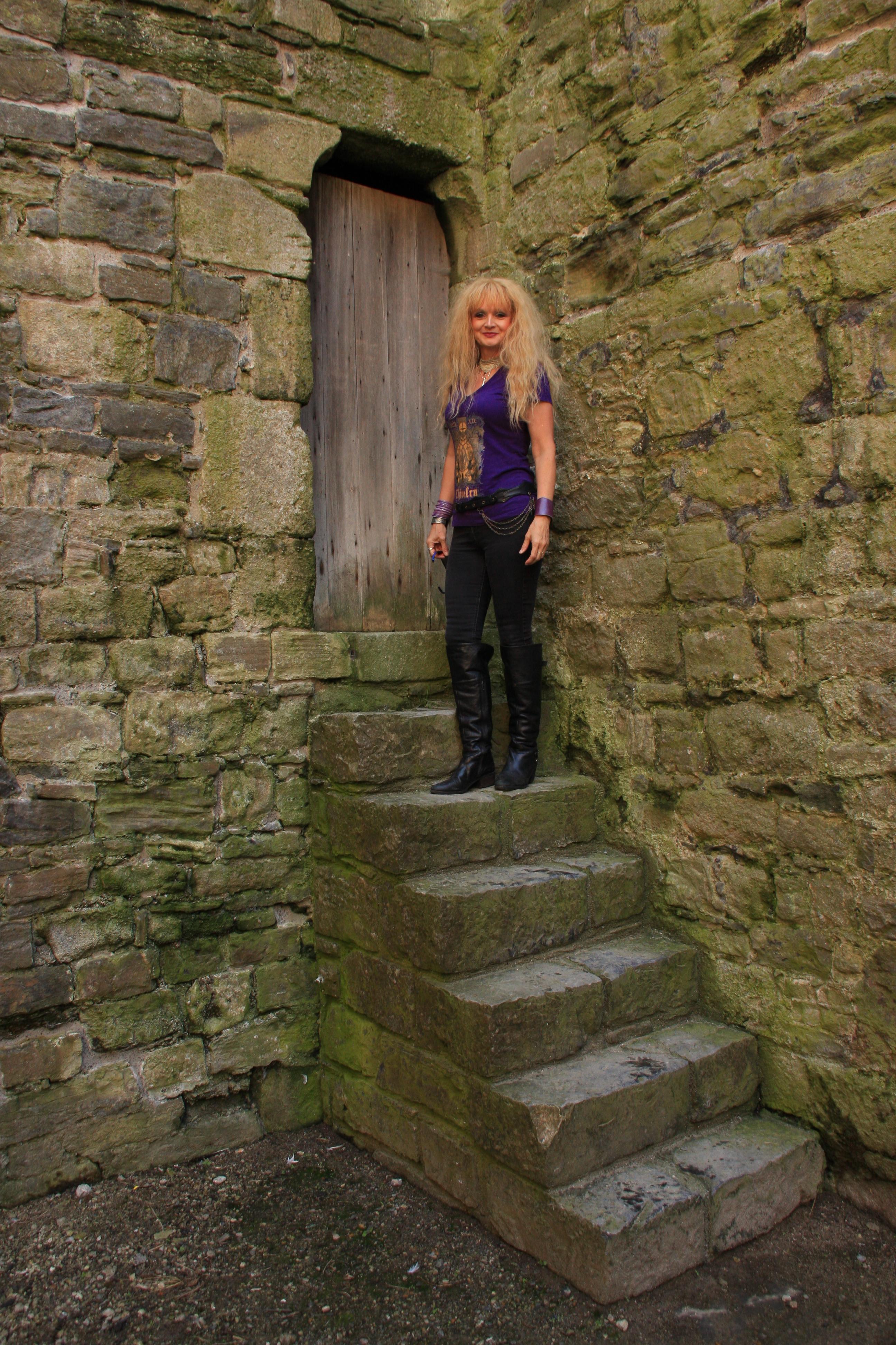 Me on steps .JPG