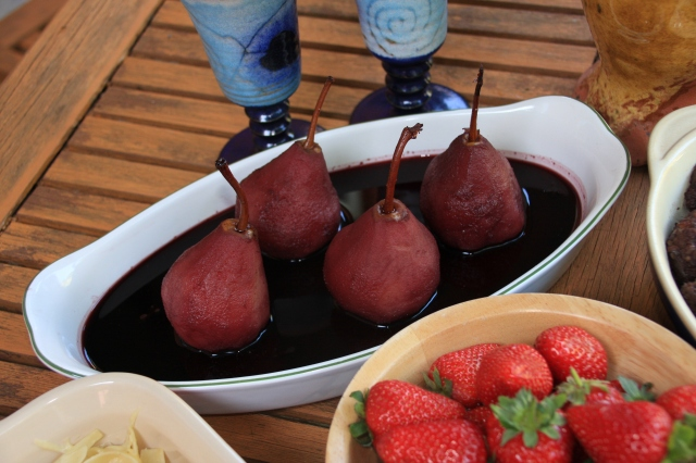 Poached pears